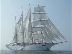 Starclipper schooner traditionally rigged.