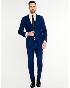 Blue suit | Suits | Pinterest | Brown belt, Beautiful and Wedding