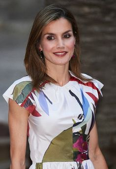 King Felipe VI, Queen Letizia and Former Queen Sofia of Spain attended the traditional summer dinner held for Authorities of the Balearic Islands at the Almudaina Palace on August 7, 2016 in Palma de Mallorca, Spain