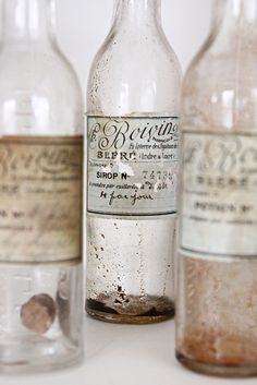 old bottles = perfect for spring water (cleaned out and sanitized, of course!)