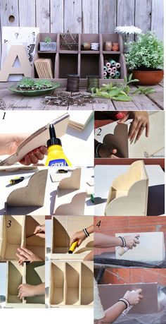 Organizador tutorial diy wooden