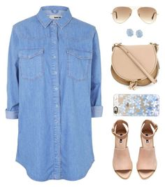 """""""Senza titolo #400"""" by anthy ❤ liked on Polyvore featuring Topshop, H&M, Chloé, Ray-Ban, Kendra Scott, Casetify, women's clothing, women, female and woman"""