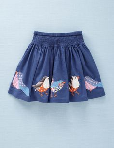 Appliqué Bird Skirt mini boden