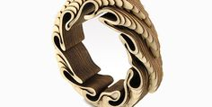 Featured Image for Intricately contoured jewellery from wood and cork