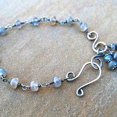 Labradorite Bracelet Wire Wrapped Sterling Silver by ZorroPlateado