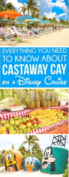Insider tips for visiting Disney Castaway Cay with kids! Everything from the food that's included to activities to do and even how to spend some adult time at Serenity Bay! Tons of other great Disney Cruise secrets too!