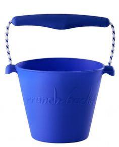 Składane wiaderko do wody i piasku Scrunch Bucket - Niebieskie