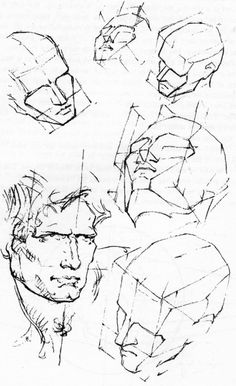 How to Draw the Head in Perspective  Drawing Human Head in ...