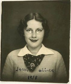 Photobooth | Jane Oliver 1939