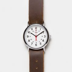 Timex Weekender Watch with Leather Strap - Cool Material