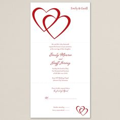 Entwined Hearts Seal and Send Wedding Invitation | #exclusivelyweddings | #redwedding