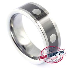 Enforcer Tungsten Rings is comfortable wherever you go. The ceramics inserted can be any color you choose to ensure this band is only for you.