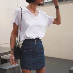 Cute skirt = cute outfits ❤️ Pepa Macák wears the @alicemccallptyltd Thinking About You Skirt - shop via #linkinbio #theiconic #newarrivals