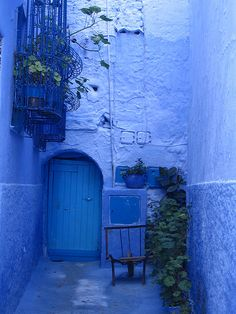 cool blue on Flickr.  Chefchaouen, Morocco