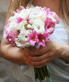 Ramo de Lisianthus y belladona rosada