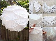 Paper lanterns are in demand in Diwali and Christmas. DIY Paper Lanterns not only save your money but its a fun and creative craft activity. Doilies Crafts, Paper Doilies, Paper Roses, Diy Crafts To Do, Easy Paper Crafts, Decorating Small Spaces, Decorating Your Home, Diwali Lantern, Chinese Lanterns
