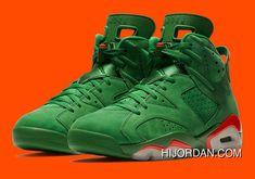 dbb3fffe113b96 Air Jordan 6 Nrg Gatorade Pine Green Orange Blaze Aj5986 335 Basketball  Shoes Copuon