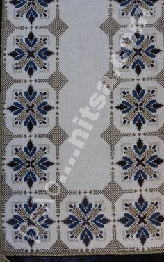 Table runner, simple design but the fabric gives it that sparkle. Hand Embroidery Design Patterns, Beaded Embroidery, Cross Stitch Embroidery, Cross Stitch Designs, Cross Stitch Patterns, Swedish Weaving Patterns, Peyote Beading Patterns, Palestinian Embroidery, Cross Stitch Boards