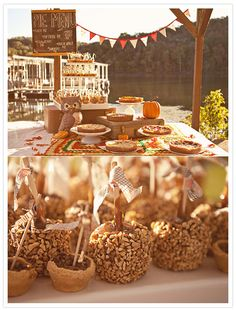 cute autumn wedding