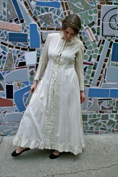 Antique Victorian Cotton Dress from Paris, 1860s. $800.00, via Etsy.