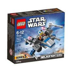 Lego legos Star Wars Flown by Poe Dameron in the force awakens movie Resistance x wing fighter Blue grey Variant Microfighters item 75125 87 pcs X Wing Fighter, Lego City, Lego Star Wars, Star Wars Toys, Lego Batman, Lego Marvel, Spiderman, Shop Lego, Buy Lego