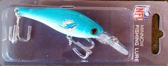 Miami Dolphins NEW LOGO Minnow Crankbait Fishing Lure Hook NFL Football -- Find out more about the great product at the image link.