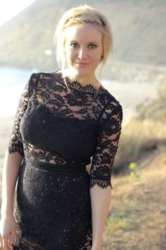 Casual Cool: Black Lace Dress
