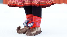Sami reindeer fur shoes