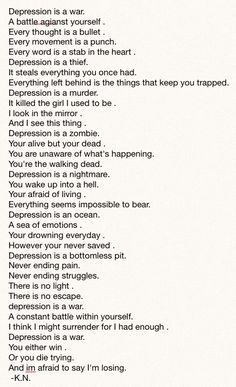 A poem I wrote about depression. Feedback? #depression #poem