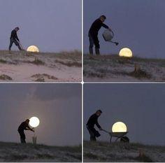 wie man sich einen Mond züchtet...