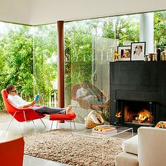 Bring the outdoors in - Modern Living Room Ideas - Sunset
