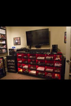 Not only do I wish I had this to hold consoles; I wish I had all of the consoles! My New Room, My Room, Spare Room, Best Gaming Setup, Gamer Setup, Gaming Room Setup, Gamer Room, Nerd Room, Entertainment System