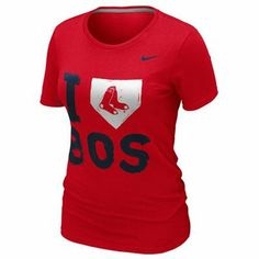Nike Boston Red Sox Ladies I Love Slim Fit T-Shirt - Red