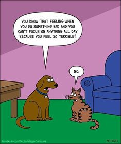 The Bent Pinky by Scott Metzger for January 2018 - Dogs In Comics ~ 4 - Cats I Love Cats, Crazy Cats, Cute Cats, Funny Animal Pictures, Funny Animals, Cat Jokes, Cat Humour, Cat Comics, Funny Cats And Dogs