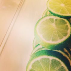 Lime wheels make great Happy Hour garnishes #SoEatingThis