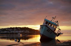 An Instow Boat At Sunset