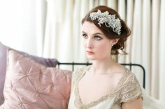 Victoria Millésime bridal accessories - treasured heirloom inspired headpieces for modern day brides.