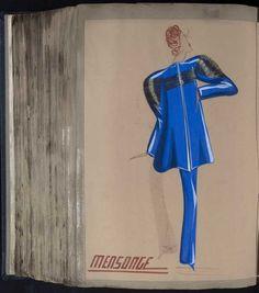 Robe Mensonge, Paris 1939, copyright Patrimoine Lanvin #JeanneLanvin #Lanvin