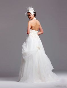 Perfect Ball Gown Sweetheart Floor-length Tulle Bridal Dress with Appliques Inspired by David Tutera Scarlett B136 $183