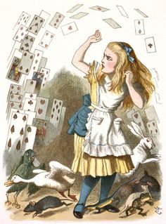 The shower of cards by John Tenniel - British Library Prints