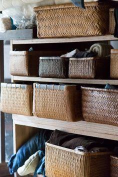 Skladování Soma domu oblečení a nářadí používané jsou zavazadla (Kouri).  Bambus a vrba, také jako materiál i velikost Fuji odrůdy.