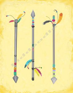 Southwestern Native American Indian arrows and by KiddoodleArt