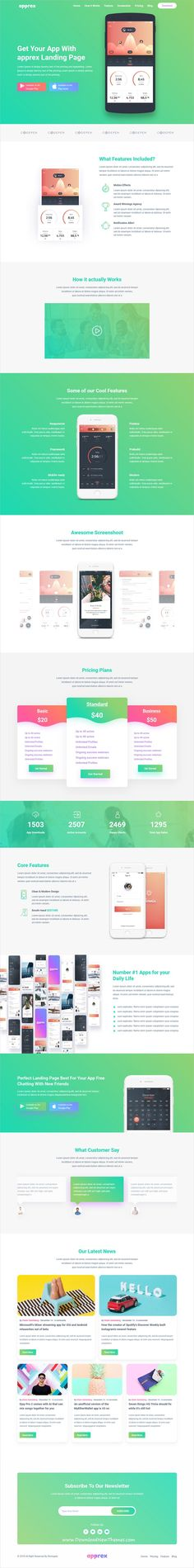 Apprex is clean and modern design 6in1 responsive bootstrap #HTML template for creative #appweb, SaaS and software #landingpages website to live preview & download click on image or Visit  #webdesigns