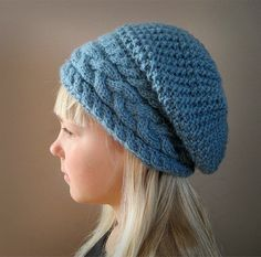 KNITTING PATTERN PDF Slouch Hat - Adult - Toddler - Teen - Knit pattern Slouch Hat