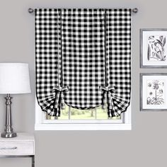 Achim Buffalo Check Black Polyester-Cotton Light Filtering Single Curtain Tie Up Shade at Lowe's. Buffalo Check - the charming allover check pattern comes to life in a stunning tie up shade. Give your home some extra style and privacy by adding the Kitchen Curtains, Home, Colorful Curtains, Window Shades, Drapes Curtains, Curtains, Window Curtains, Tie Up Curtains, Buffalo Check Curtains