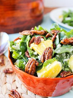 Spinach, Pecans & Pineapple Salad