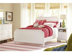 smartstuff | Black and White | Panel Bed (Full) | 437A040