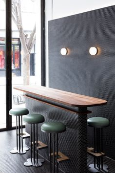 Restauranteurs Jeremiah Stone and Fabian Von Hauske teamed up with Neapolitan pizza specialist Anthony Mangieri for the venture, and asked designer Maisie to create an interior that would complement the cuisine.
