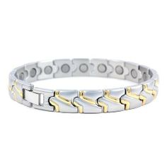 Perfect Gift - High Quality Fashion Plated Stainless Steel Bracelet (with Magnet) (2769) for Birthday Anniversary Free Standard Shipment Clearance M-Peace. $31.98 Fashion Plates, Stainless Steel Bracelet, Jewelry Bracelets, Anniversary, Peace, Birthday, Link, Silver, Gifts