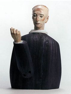 black and white - man - figurative sculpture - Katsura Funakoshi